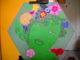 """Tableau acrylique """"femme-fleurs"""""""