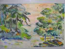 Peinture lac au printemps