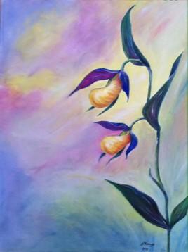 Nuages d'orchidees