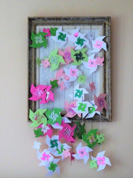 cascade de moulins en origami