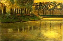 soirée au bord du canal.