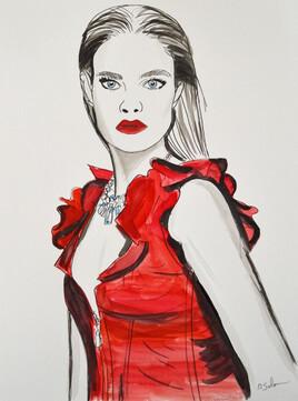 Portrait du top model Natalia Vodianova