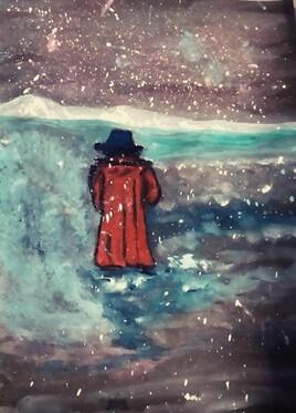 L'homme au chapeau  bleu