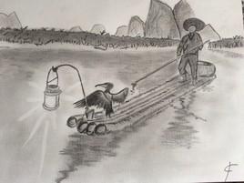 Pêcheur au cormoran