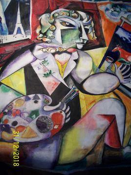 A vendre , Copie Chagall : Autoportrait