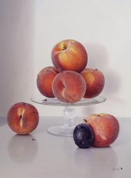 La prune et les pêches (35 x 27 cm) 5F