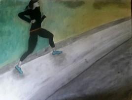 coureuse sur bitume