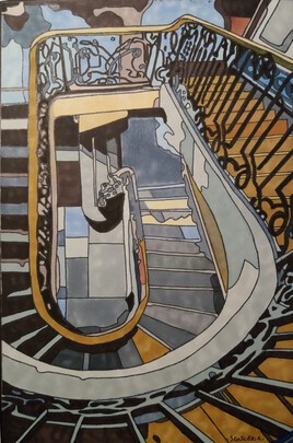 La cage d'escalier