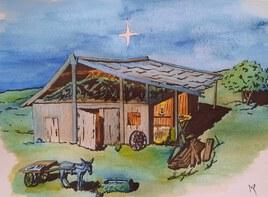 Joyeux Noël après peinture