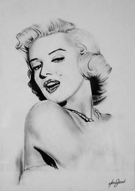 Portrait Marylin Monroe