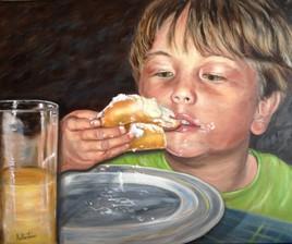 La gourmandise d' un enfant