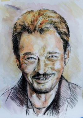 Portrait de Johnny Haliday 2.