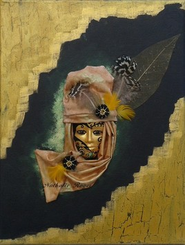 """Tableau masque : """"en noir et or"""""""