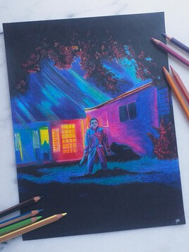 Drawing of Michael Myers