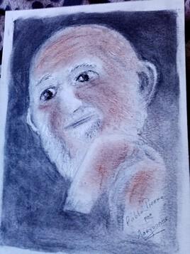 Un portrait de l abbé Pierre