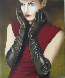 La dame aux gants