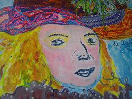 La Du Barry excentrique , portrait POP ART