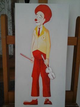 clown au violon