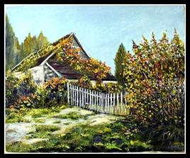 La maison de campagne (huile) 61x50