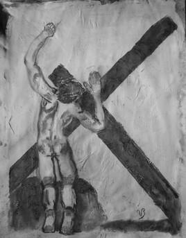 Le Christ tombe pour la première fois