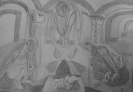 Confinement, L'Adoration des Mages en l'église clunisienne de Moirax.