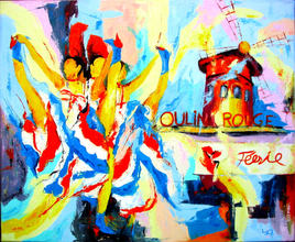 French Cancan au Moulin Rouge