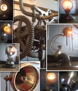 Lampe recyclage metal