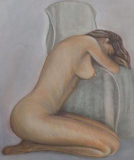 Femme sur fauteuil
