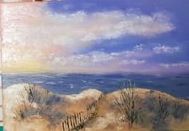 Crépuscule sur les dunes