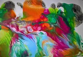feu d'artifice de couleur