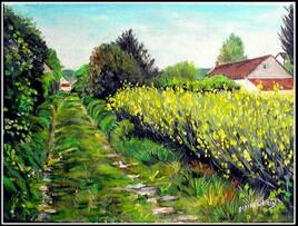 Chemin à Courdimanche sur Essonne (peint sur le motif)