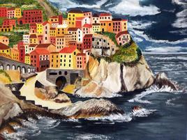 Village sur falaise.