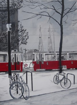 tableau deco tram