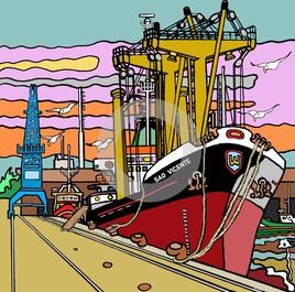 Dimanche au fond du port.