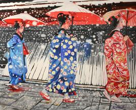 3 ombrelles rouges