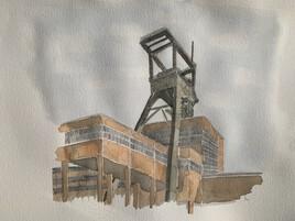 Le chevalement du puits Wendel 3, Petite Rosselle