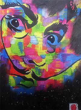 Peinture sur toile mémoire de Dali