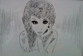 black eyes girl
