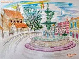 La fontaine Godillot Hyères 83400