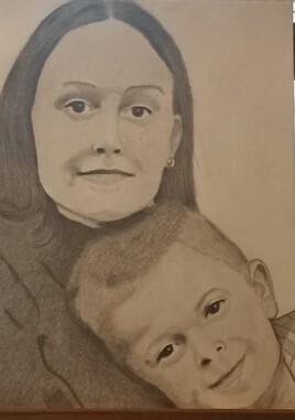 Portrait enfants graphite