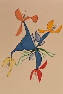 Quatres fleurs se mettent au minimalisme...