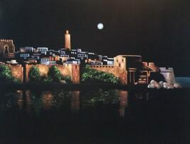 La casbah des Madaya la nuit