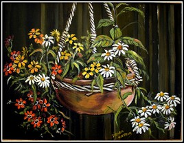 Macramé et fleurs