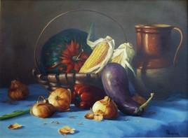 Nature morte aux maïs