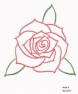 Rose à trois feuilles