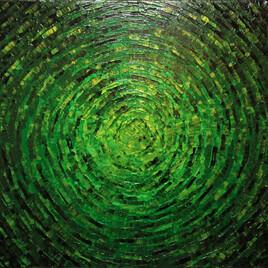 Éclat de couleur vert