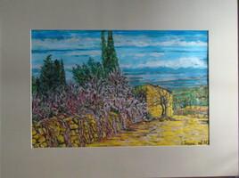 Aux alentours de Villeuvette : un mazet (Hérault)