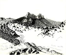 Paysage de rocaille en Languedoc