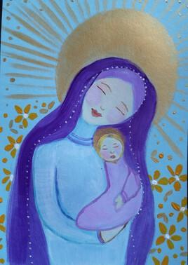 """Vierge à l'enfant """"Vendue"""""""