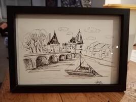 Pont henri Iv châtellerault vue 1 dessins